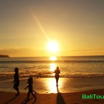 Sunset di pantai Dreamland