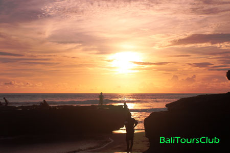 Sunset di pantai Batu Bolong Canggu