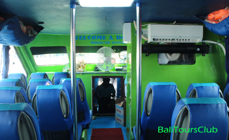 Interior speed boat Gili Trawangan