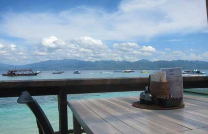 Pemandangan Scallywags Resort Gili Trawangan