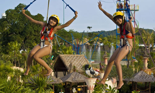 Flying fox di New Kuta Green Park