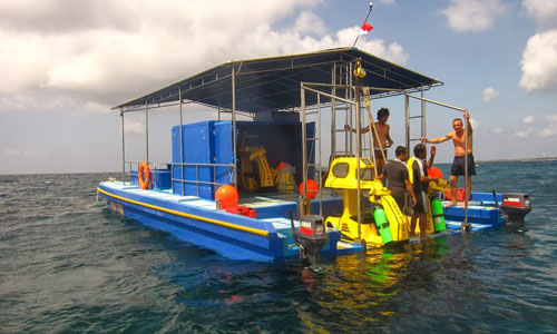 Pontoon underwater scooter Tanjung Benoa
