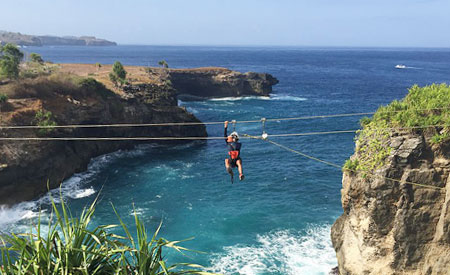 Flying fox di Blue Lagoon