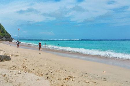 Objek wisata pantai Pandawa