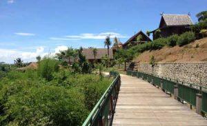 Pamandangan di Taman Nusa Gianyar