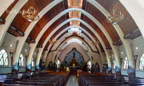 Ruangan di gereja palasari Jembrana
