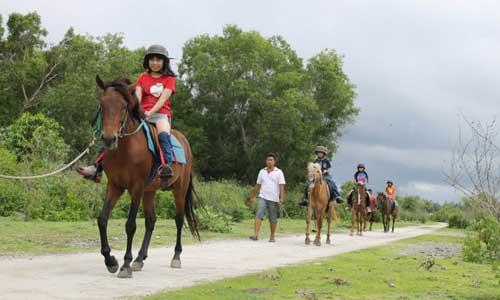 Naik kuda ke pedesaan Serangan