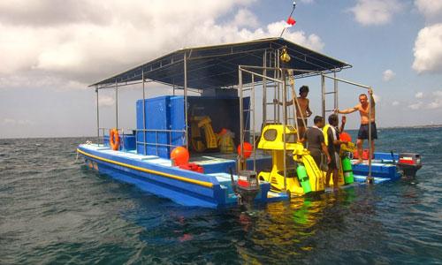 Pontoon underwater scooter Tanjung Benoa