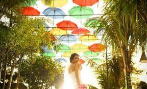Atap payung di Taman Big Garden Corner