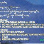 Sejumlah Larangan atau Pantangan di Bali