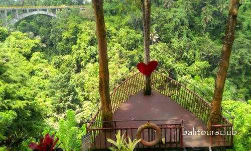 Objek wisata Tanah Wuk di Sangeh Bali