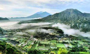 Pemandangan dari desa Pinggan Kintamani