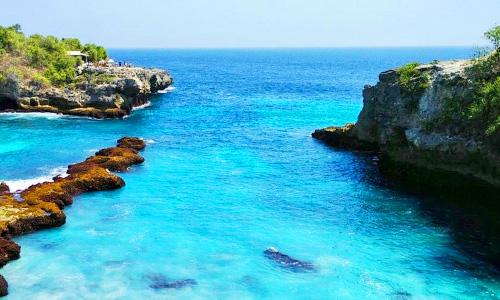 Objek wisata di Nusa Lembongan - Blue Lagoon