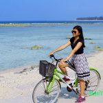 Wisata naik sepeda di Gili Trawangan