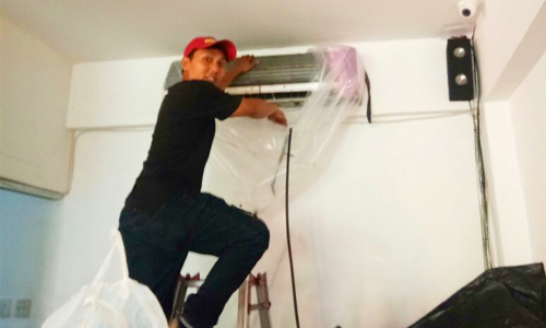 Wayan Sudi - Tukang cuci dan service AC di Denpasar Bali