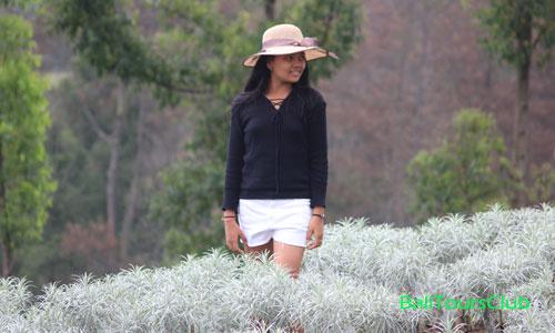 Foto selfie di Padang Bunga Kasna