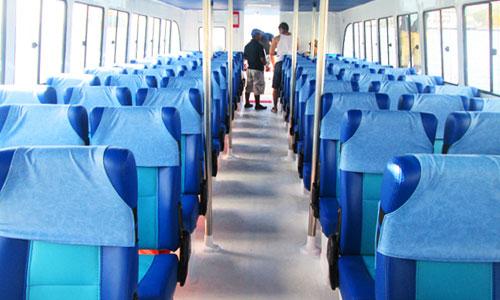 Kursi penumpang Mahi Mahi Speed boat