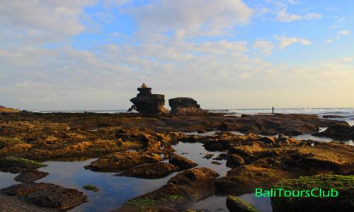 karang di permukaan pantai Melasti