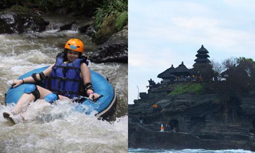 Paket River Tubing - Tanah Lot Tour Bali