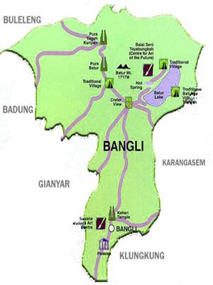 Peta wilayah Kabupaten Bangli