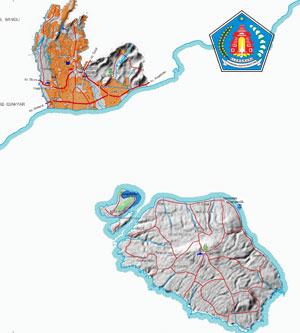 Peta wilayah Kabupaten Klungkung