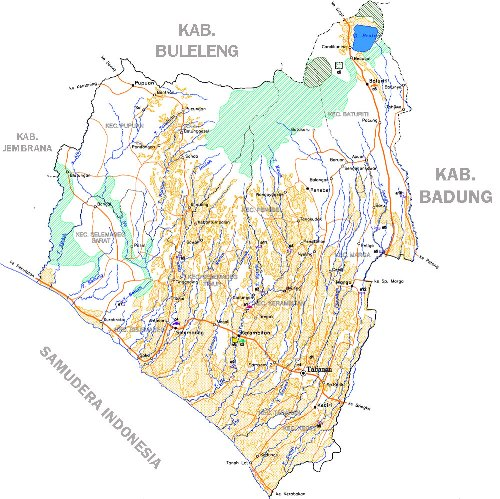 Peta wilayah Tabanan Bali