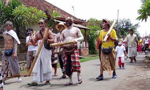 Tradisi Ngedeblag di Kemenuh Sukawati
