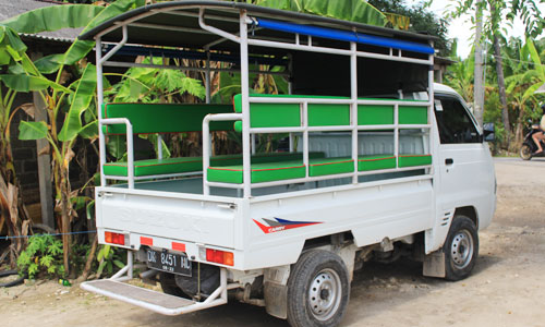 Sewa Mobil bak terbuka - kol di Nusa Lembongan