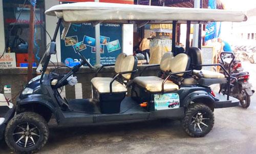 Sewa mobil buggy di Nusa Lembongan