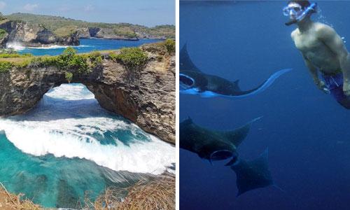 Island tour dan snorkeling di Nusa Penida
