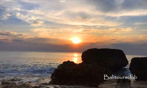 Sunset di pantai Cemongkak