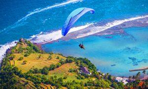 Paralayanag - Paragliding di bukit Timbis Bali