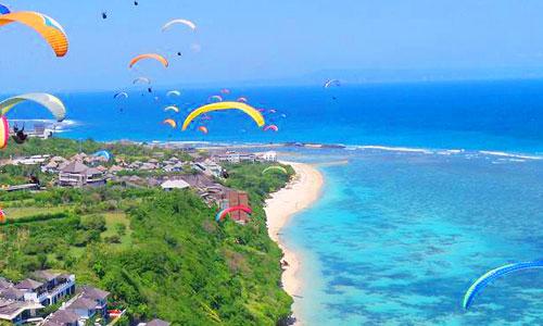 Tempat paralayang - paragliding di Bali