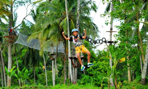 Flying fox di Basangbe Adventure Park