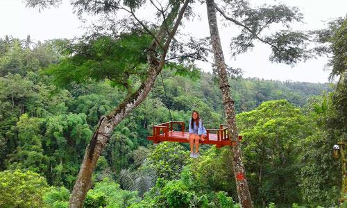 tempat selfie di Basangbe Adventure Park Bali