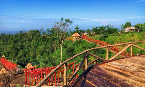 Pemandangan lembah di Bukit Jinja Bali