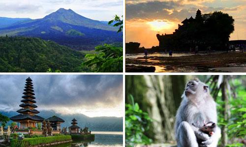 Tujuan Tour terpopuler di pulau Bali