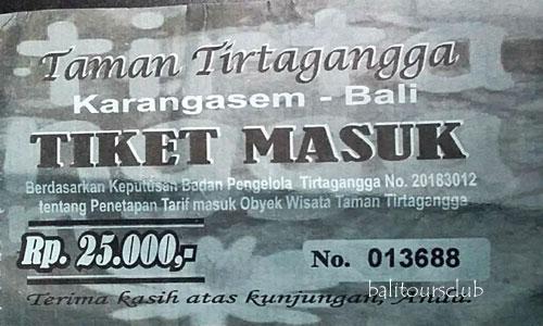 Harga tiket masuk di Tirta Gangga