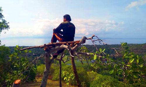 Pemandangan dari Ceeng Hill Karangasem