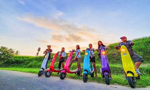 Tour naik sepeda motor bersama Bali Funtastic Scooter