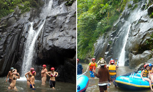 Air terjun di sungai Ayung
