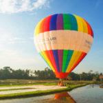 Wisata balon udara di Ubud Bali