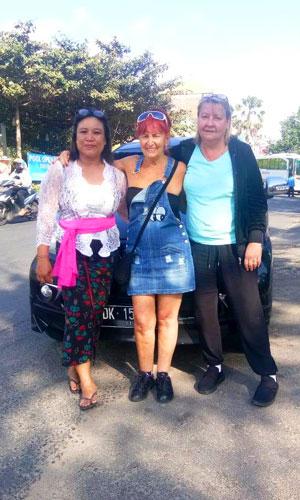 Driver perempuan di Bali