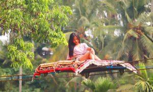 Karpet terbang di Hidden Valley Tunggir Bali