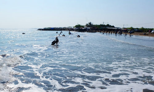 Objek wisata pantai Pondok Bali di Subang
