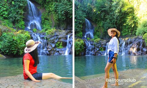 Tempat wisata foto di Taman Sari waterfall Gianyar